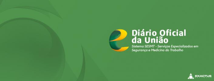 Diario Oficial da União Sistema SESMT